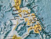 pic of batangas  - Philippines map part of world globe with selective focus - JPG