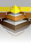 picture of pyramid  - infographic pyramid - JPG