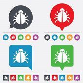 pic of disinfection  - Bug sign icon - JPG