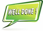 stock photo of job well done  - illustration of design green speech for well done - JPG