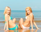 picture of denude  - In Bikini Relaxating Beauties  - JPG