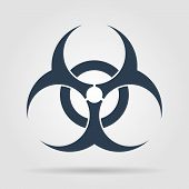 pic of hazardous  - Bio hazard icon  - JPG
