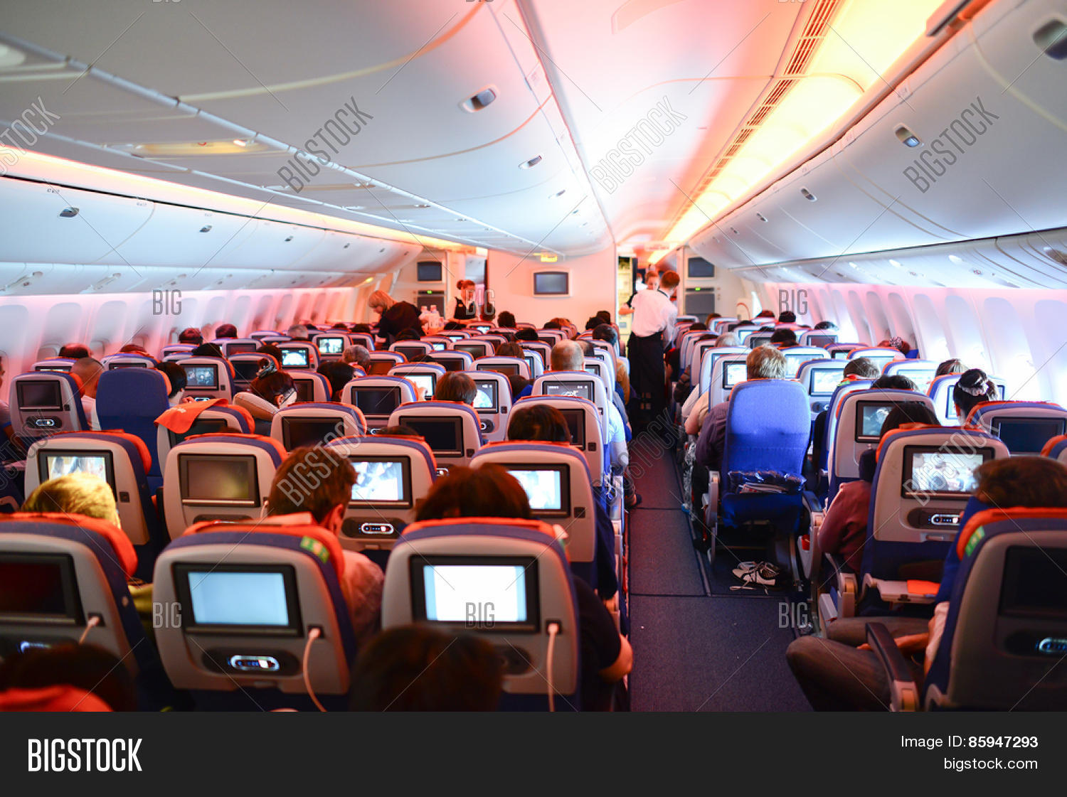 Moscow russia april 21 2014 image photo bigstock for Interieur boeing 777