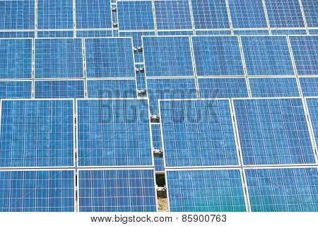 Blue Solar Energy Panels