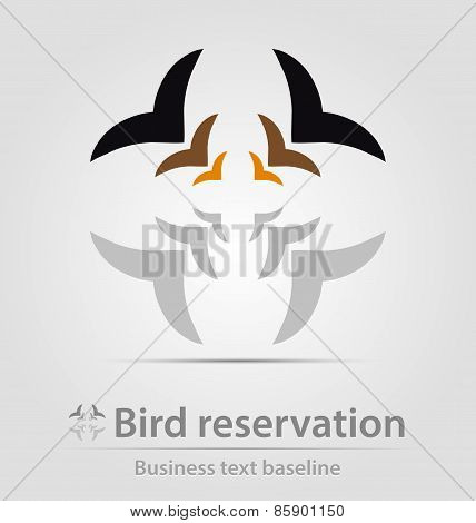 Bird Reservation Business Icon