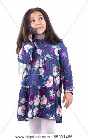 Young Girl Having A Phone Call