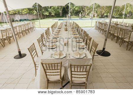 Tent Decor Tables Chairs Party