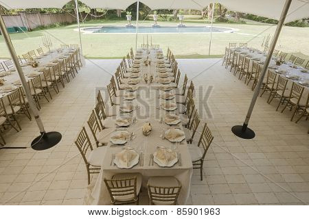 Tent Tables Chairs Decor