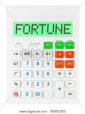 Calculator With Fortune