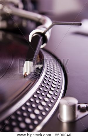 Turntable Playing The Vinyl Record