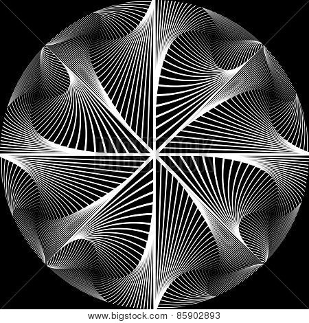 Design Monochrome Circular Abstract Background