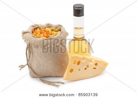 Cheese, Pasta And Olive Oil