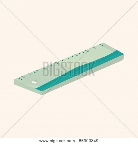 Stationary Ruler Theme Elements Vector,eps