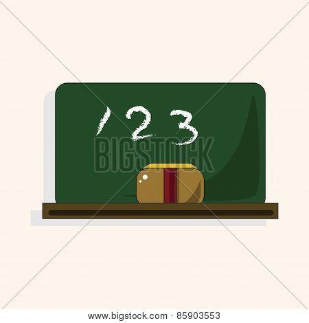 Classroom Blackbroad Theme Elements Vector,eps