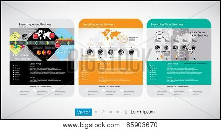 Web template, vector