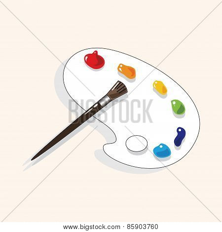 Stationery Color Palette Theme Elements Vector,eps