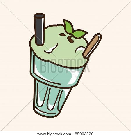 Iced Drink Theme Elements Vector,eps