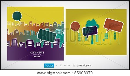 City vector background