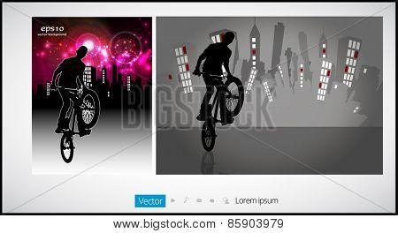 Cycling. Vector