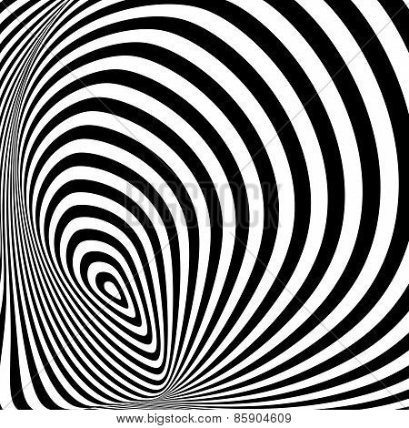 Design Monochrome Whirlpool Movement Illusion Background