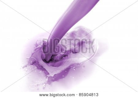 blueberry drink splashing on white background