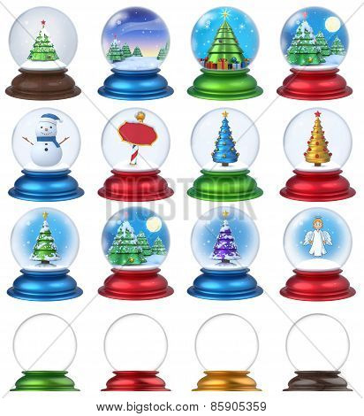 Christmas Snow Globe Set 3D