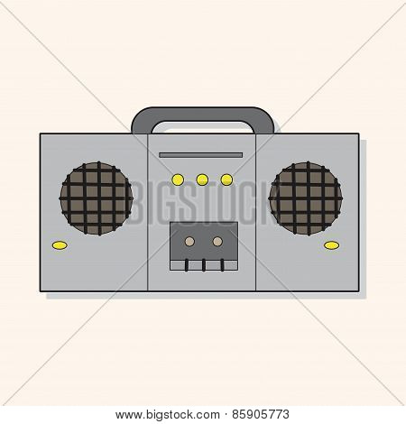 Rock Music Sound Recorder Theme Elements Vector,eps