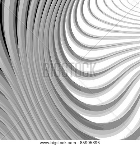 Design Monochrome Parallel Waving Lines Background