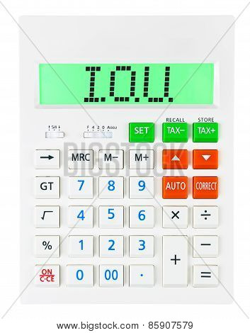 Calculator With I.o.u.
