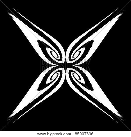 Design Monochrome Decorative Butterfly