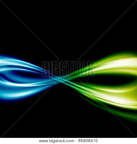Blue To Green Fusion Swoosh Line Infinity Symbol