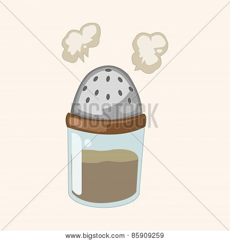 Kitchenware Pepper Bottle Theme Elements Vector,eps