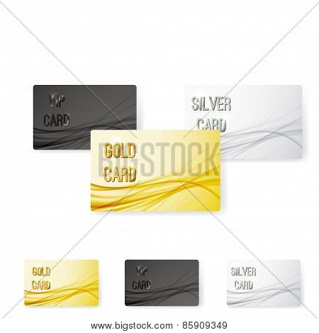 Smooth Swoosh Wave Line Premium Membership Card Collection