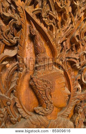 wood carving for deva statue