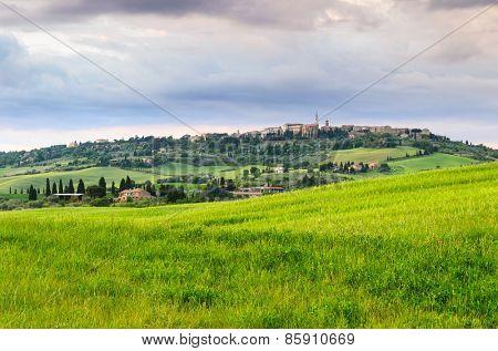 sunset Tuscany landscape, Toscana, Italy