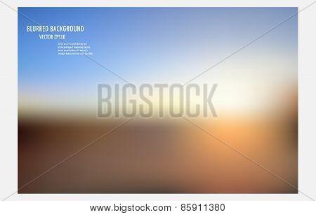 Blur Sunrise Or Sunset Background.