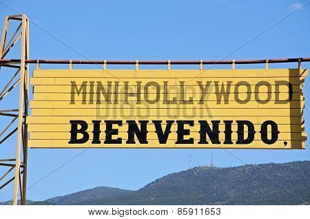 Mini Hollywood sign, Tabernas.
