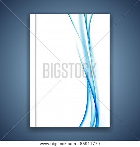 Abstract Blue Satin Speed Futuristic Line Folder