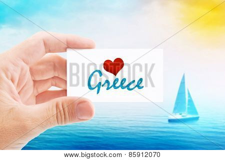 Summer Vacation On Greece Beach