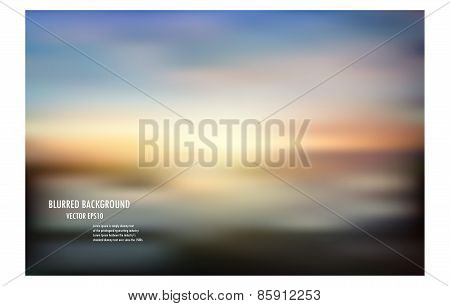 Blur Sunrise Or Sunset Background,colorful Blurred Background, Vector Illustrator Desige Wallpaper,a