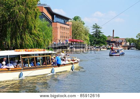 RSC and river Avon, Stratford-upon-Avon.