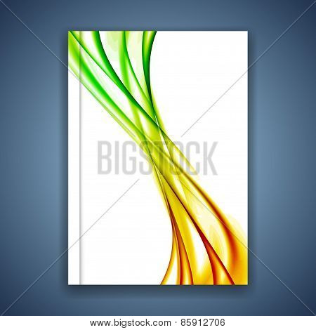 Bright Smooth Swoosh Wave Brochure Cover Design Template