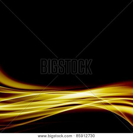 Abstract Gold Luxury Wave Layout Background