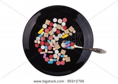 Black Medicine Plate