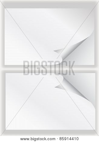 Paper Curl Corner White Background.vector Illustrator Design Template.