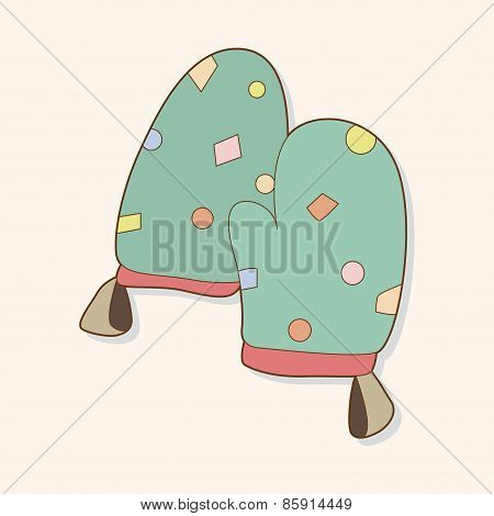 Kitchenware Oven Mitts Theme Elements Vector,eps