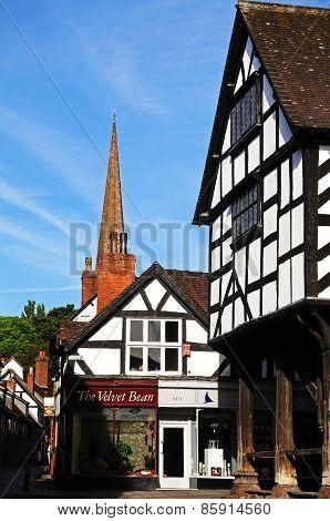 Market House and Church, Ledbury.