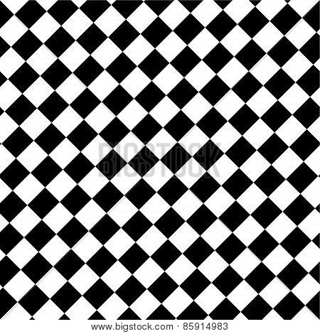 Black And White Abstract Background Resembling A Checkerboard.