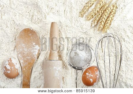 Flour Background
