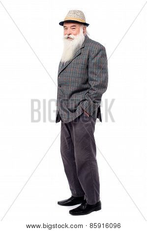 Handsome Old Man In Suit